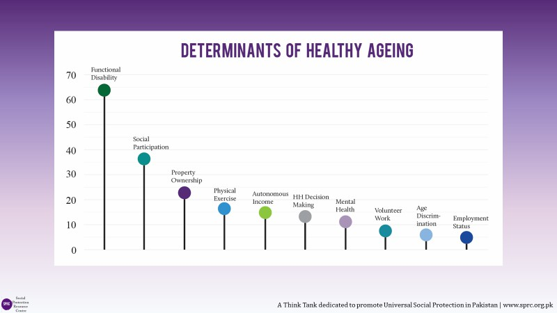 Determinants of Healthy Ageing Index..